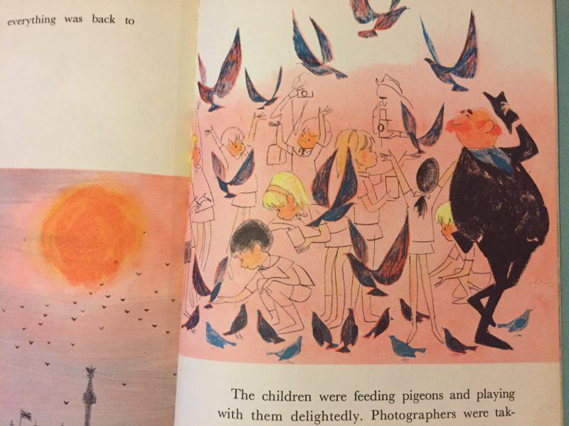 デール・マキシーのビンテージ絵本   PREEP, THE LITTLE PIGEON OF TRAFALGAR SQUARE   絵本
