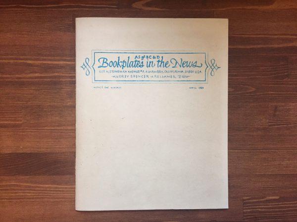 アメリカの蔵書票に関する同人誌 Bookplates in the News オードリー・スペンサー Audrey Spencer   蔵書票・EXLIBRIS