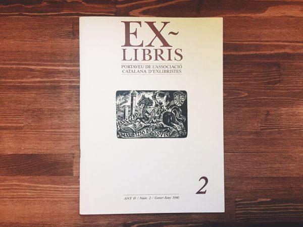 スペインの蔵書票に関する同人誌 EX-LIBRIS 1990年 上半期号   蔵書票・EXLIBRIS