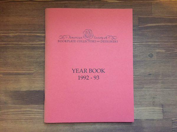 アメリカの蔵書票同人誌 川田喜一郎特集 American Society of BOOKPLATE COLLECTORS and DESIGNERS YEARBOOK 1992-93  蔵書票・EXLIBRIS