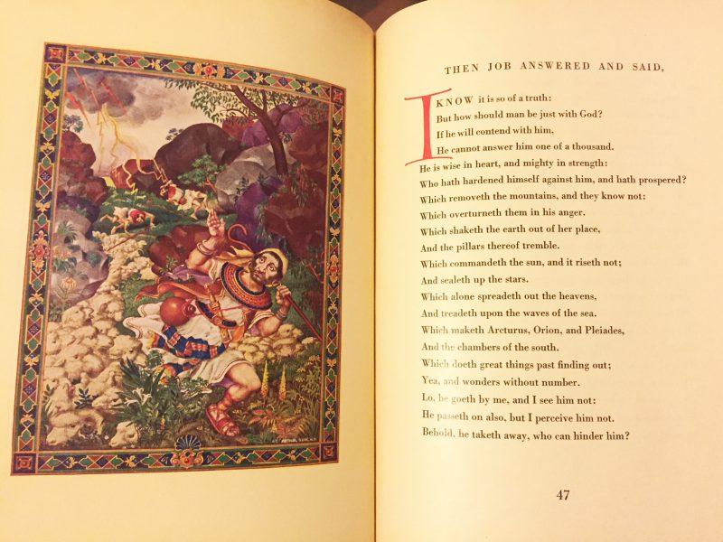 アーサー・シュジクのヨブ記 THE BOOK OF JOB with pictures by ARTHUR SZYK | 聖書・挿画本