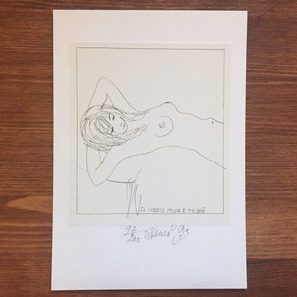 チェコの蔵書票 カレル・ベネシュ Karel Benesの作品-1 | 蔵書票・EXLIBRIS