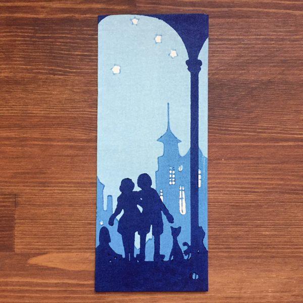 小林かいち 京都さくら井屋木版絵封筒 | 青い鳥 | 木版画・絵封筒・ぽち袋
