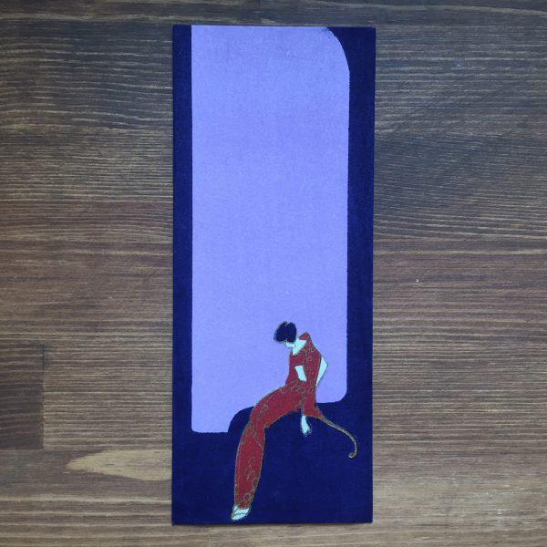 小林かいち 京都さくら井屋木版絵封筒 | 赤い着物の女性 | 木版画・絵封筒・ぽち袋