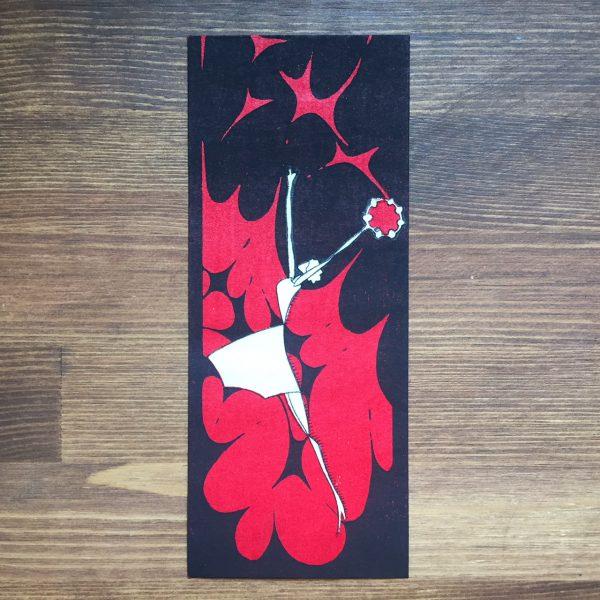 小林かいち 京都さくら井屋木版絵封筒 | タンバリンを持つ女性 | 木版画・絵封筒・ぽち袋