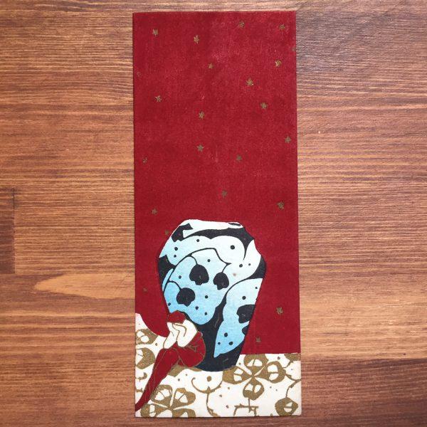 小林かいち 京都さくら井屋木版絵封筒 | 壺と女性 | 木版画・絵封筒・ぽち袋