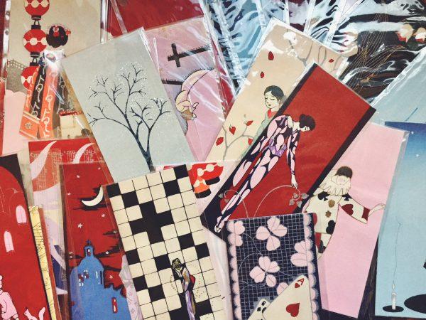 小林かいちの木版絵封筒、持ち込み買取