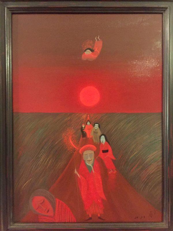 斎藤真一:陽の使者 émissaire de soleil | 油彩画