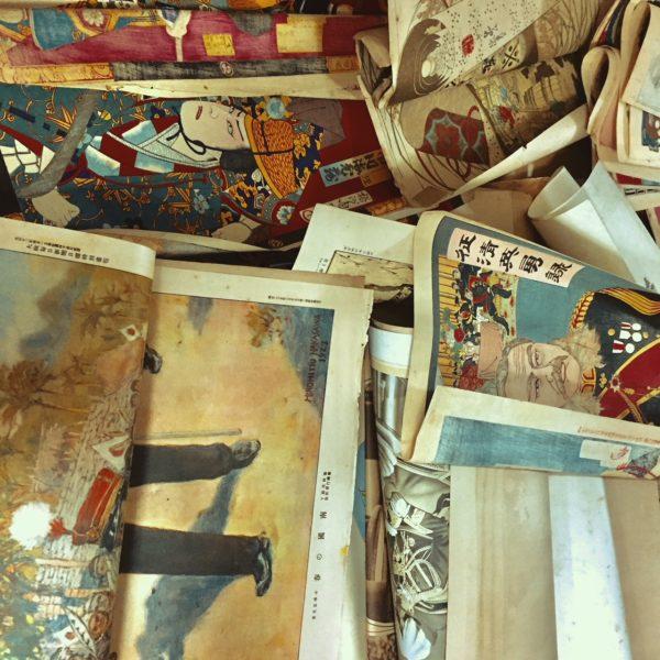 明治時代の引札や歌舞伎役者の俳句摺物、京都市右京区にて出張買取