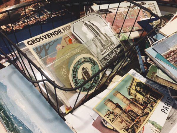 兵庫県芦屋市にて、オールド・ホテルラベル、古い絵葉書などを出張買取