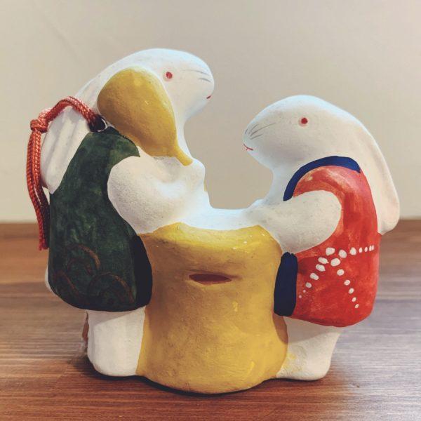 土鈴 餅つきうさぎ・野田末吉 | 名古屋土人形 | 民芸・郷土人形