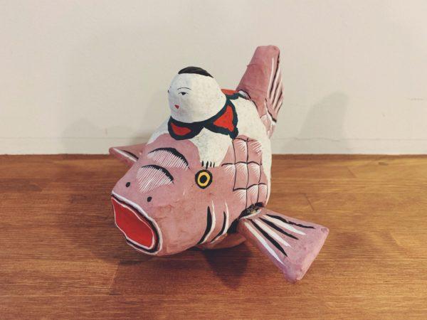 琉球郷土玩具 鯛乗り童子・古倉保文 | 沖縄・琉球張子 | 民芸・郷土人形