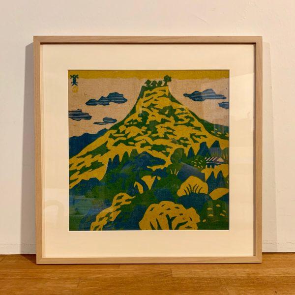 川西英 版画作品 再度山風景 | 木版画