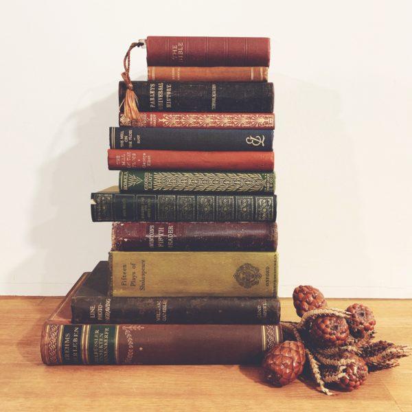 ディスプレイに素敵な本棚を | カフェやインテリアショールームに洋書を飾って