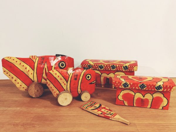 鹿児島神宮 鯛車・化粧箱・羽子板 5点セット | 民芸・郷土玩具・信仰玩具