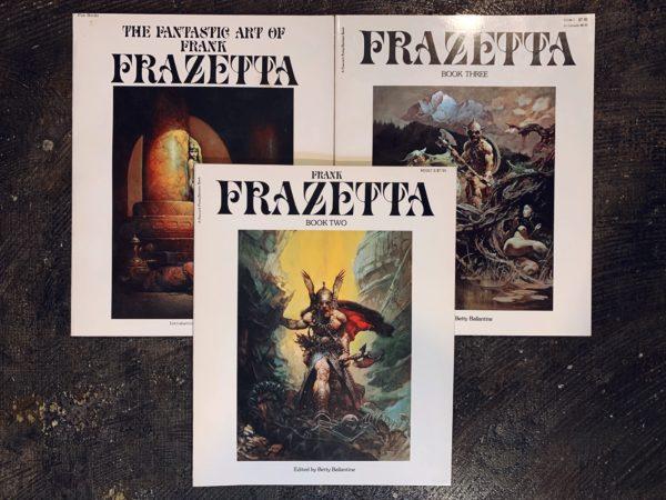 フランク・フラゼッタ THE FANTASTIC ART OF FRANK FRAZETTA vol.1・2・3 3冊セット | 挿絵・イラスト画集