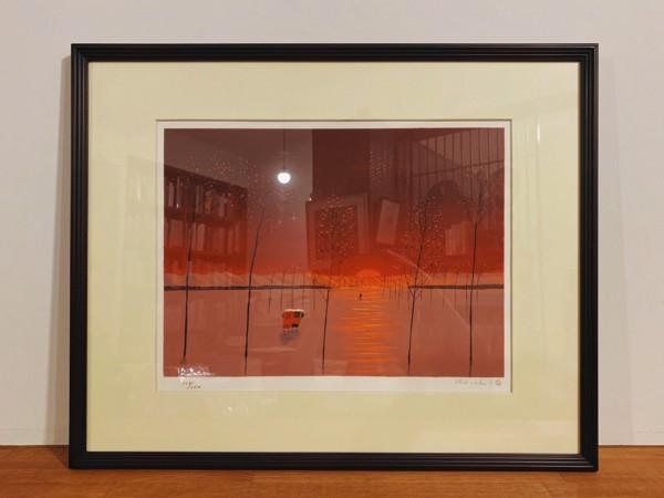 斎藤真一リトグラフ作品「朝の光」| 美術・版画作品