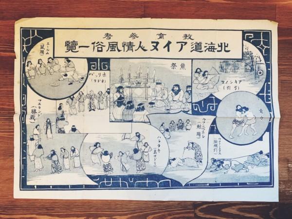 戦前のアイヌの資料 教育参考 北海道アイヌ人情風俗一覧 | 明治大正昭和戦前の資料・紙もの