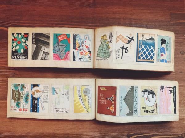 戦前のマッチラベル貼り込み帖2冊組 | カフェー・喫茶店・ガスビル・宝塚少女歌劇…e.t.c, 関西のマッチラベル700余点 | 明治大正昭和戦前の紙もの・資料・マッチラベル・広告デザイン
