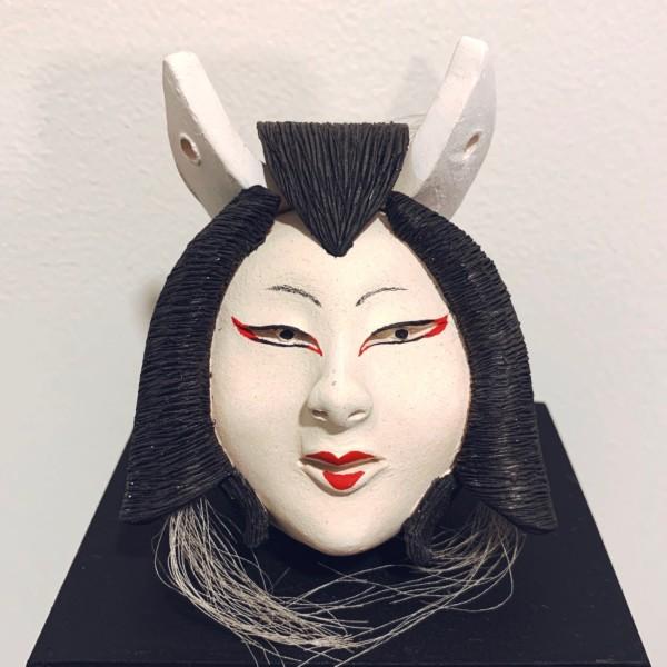 両面土鈴 狐と女面 | 民芸・郷土人形・妖怪
