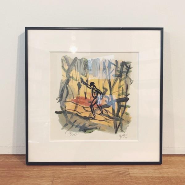 横尾忠則リトグラフ作品 「artist in forest」 | 現代美術
