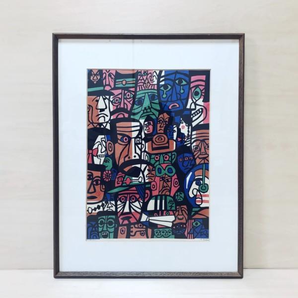 浅野竹二木版画作品「三代」と「浅野竹二自撰木版画集」セット | 木版画・画集