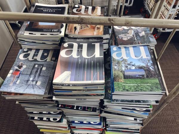大阪市福島区にて、建築雑誌を大量出張買取
