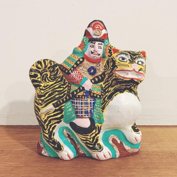 土人形 虎乗り加藤・中島一夫 | 愛知・起土人形 | 民芸・郷土人形・武者人形