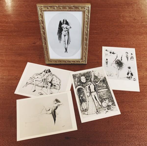 山本六三ポストカード5枚組 | コロタイプ印刷・フレーム付 | 美術・ポストカード