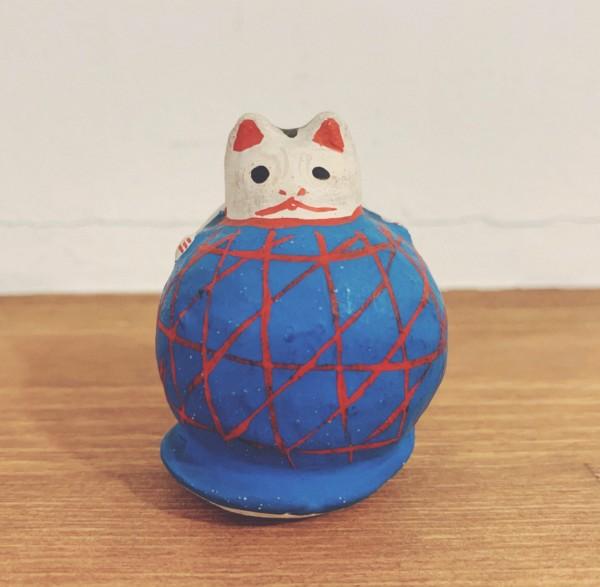 山形張子 まり猫・青 | 山形県 | 郷土玩具・張子