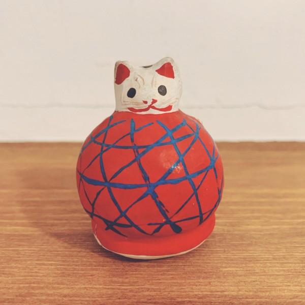 山形張子 まり猫・赤 | 山形県 | 郷土玩具・張子