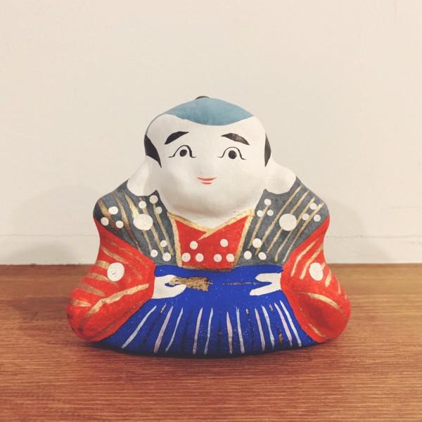 縁起物のおもちゃ 大崎文仙堂『福助』 | 香川県・高松土人形 | 郷土玩具・土人形