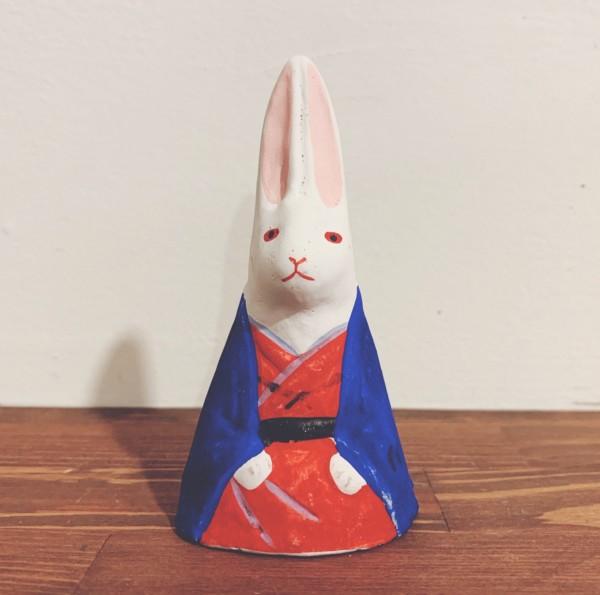 うさぎのおもちゃ 今戸焼『月見兎』 | 東京都 | 郷土玩具・土人形