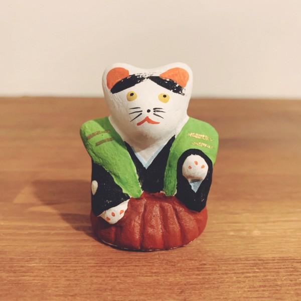 堺湊焼 初辰猫・裃 | 大阪府堺市 | 郷土玩具・土人形