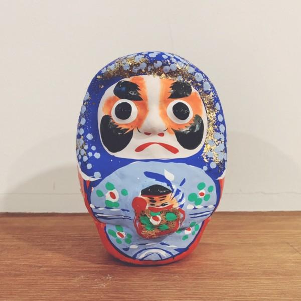 縁起物の郷土玩具 仙台張子『松川だるま・玉入り』 | 本郷だるま屋 | 郷土玩具・縁起物
