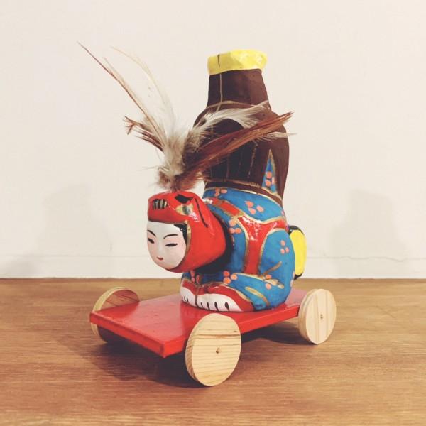浜松張子の『鳥神楽』 | 二橋加代(二橋加代子)作・静岡県浜松市 | 郷土玩具・首振り張子