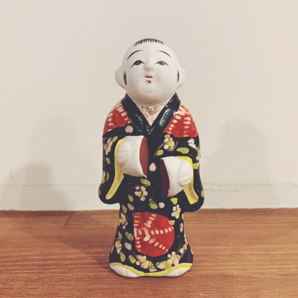 伏見人形『饅頭喰い』小サイズ | 京都府 | 郷土玩具・土人形