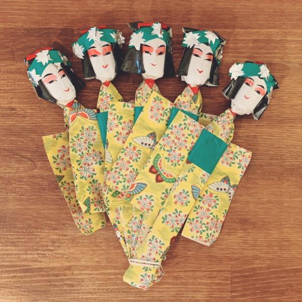 宇土の『五人姉様』 | 熊本県宇土市・坂本カツ | 郷土玩具・姉さま人形