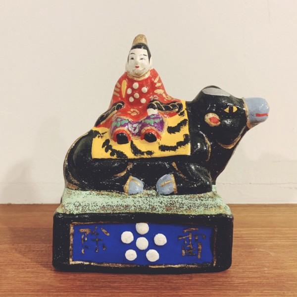 天神さまの土人形 | 稲畑人形『雷除天神』 | 兵庫県丹波市 | 郷土玩具・土人形・民芸・厄除け