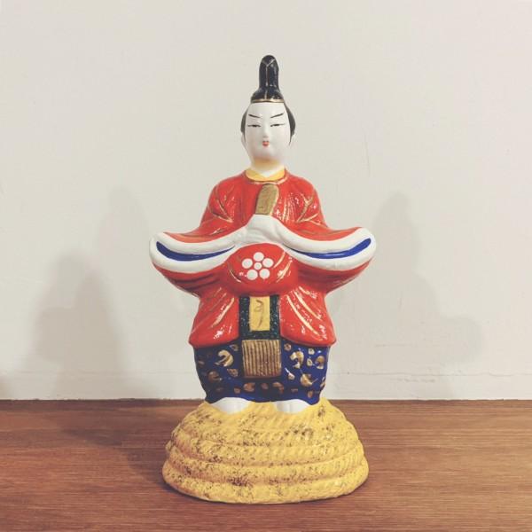 天神さまの土人形 | 三次人形『綱敷天神』(縄乗天神) | 広島県三次市 | 郷土玩具・土人形・民芸