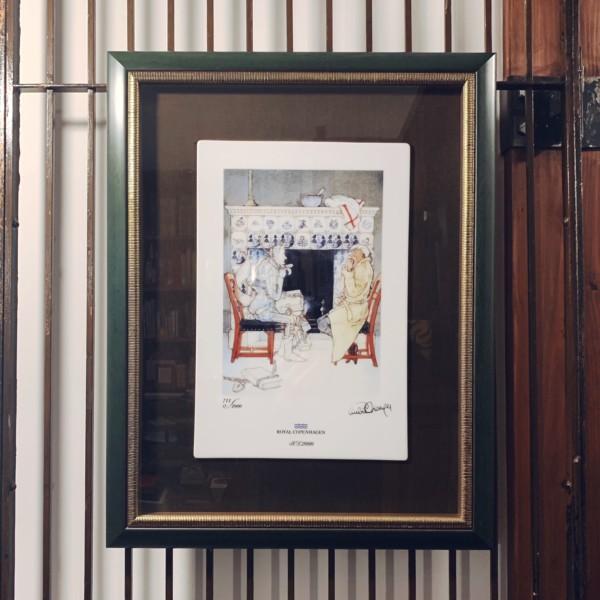 ロイヤルコペンハーゲン陶板画:リスベート・ツヴェルガー『クリスマス・キャロル』 | ロイヤルコペンハーゲン「アート・ポーセリン」コレクション | 陶板画・陶磁器・工芸