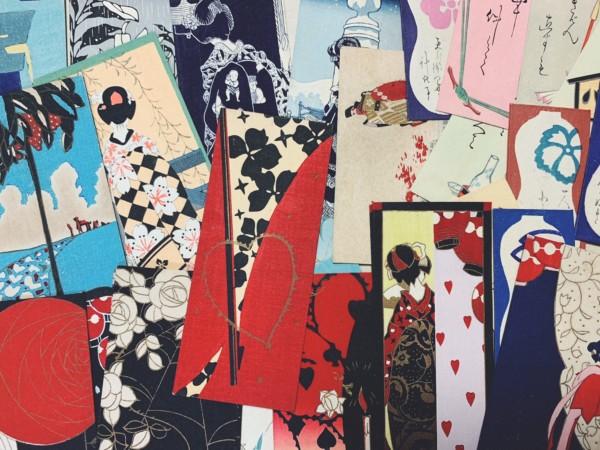 京都市左京区にて、小林かいち、京都さくら井屋の木版絵封筒を出張買取