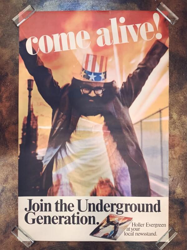 アレン・ギンズバーグのポスター Allen Ginsberg | Evergreen Review Magazine Original Poster | 1966年・エヴァーグリーンレヴューマガジン・オリジナルポスター