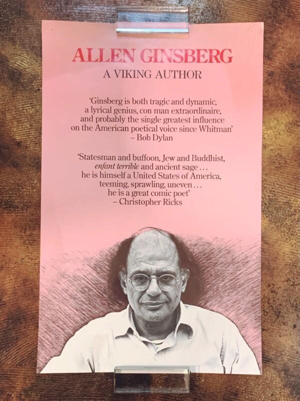 アレン・ギンズバーグのポスター Allen Ginsberg A Viking Author