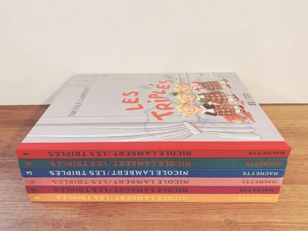 ニコル・ランベールの絵本 Nicole Lambert: LES TRIPLES(みつごちゃん) 全6冊揃 | HACHETTE Jeunesse | フランスの絵本