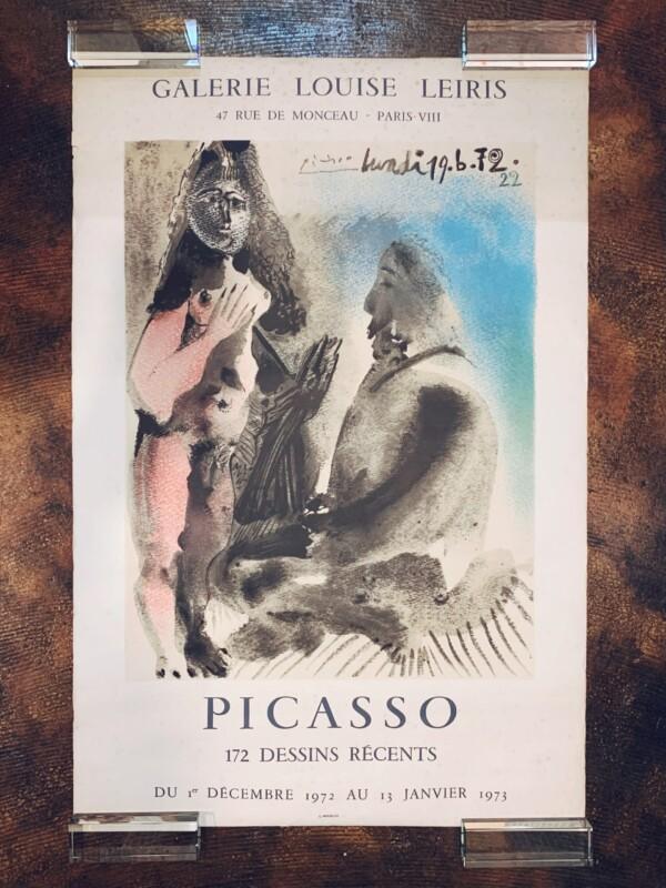 ピカソ リトグラフポスター / PICASSO POSTER | 1972年・ムルロ工房制作・GALERIE LOUISE LEIRIS | リトグラフ・アートポスター