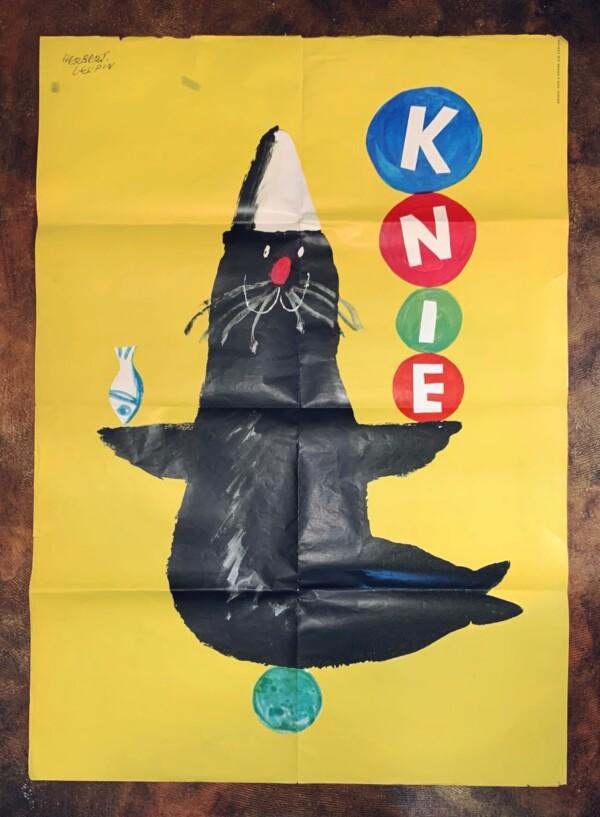 ヘルベルト・ロイピンのポスター 『クニー・サーカス』 | スイスグラフィック・イラストレーション・ヴィンテージポスター