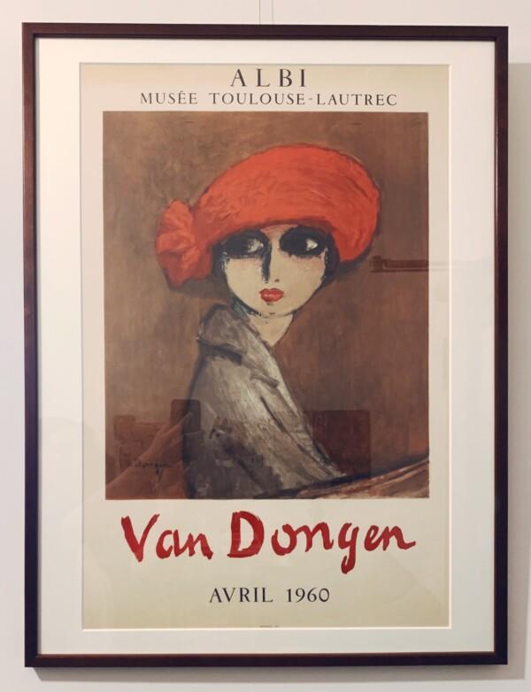 キース・ヴァン・ドンゲン『赤い帽子の女性』リトグラフポスター | 1960年・ムルロ工房制作 | 美術・アートポスター