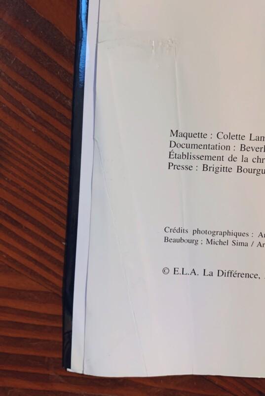 フランシス・ピカビア PICABIA | 1998年・La Difference / Galerie Beaubourg | 画集